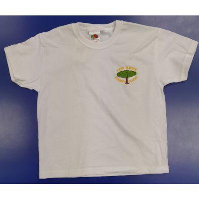 Kerr Mackie White P.E T-Shirt w/Logo