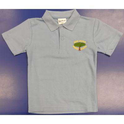 Kerr Mackie Sky Blue Polo Shirt w/Logo