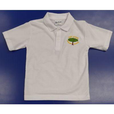 Kerr Mackie White Polo Shirt w/Logo