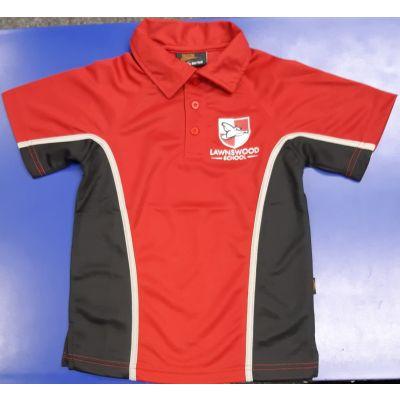 Lawnswood Boys Red P.E Polo Shirt