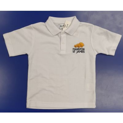 Manston St James White Polo Shirt w/Logo