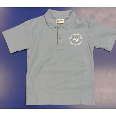 Moor Allerton Primary Sky Polo w/Logo