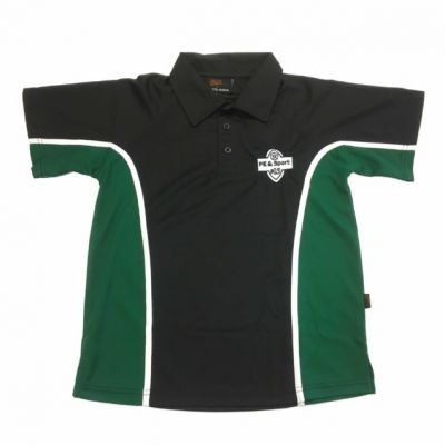 Roundhay Blk/Emerald Sports Polo Shirt w/Logo
