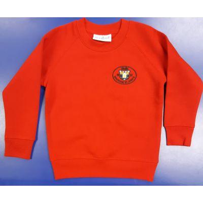 Roundhay St John's Red Sweatshirt w/Logo