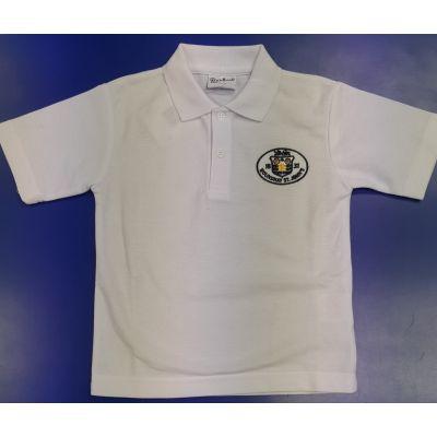 Roundhay St John's White Polo w/Logo