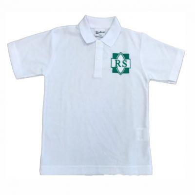 Roundhay White Polo Shirt w/Logo