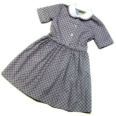 Gateways Girls Red/Grey Check Summer Dress