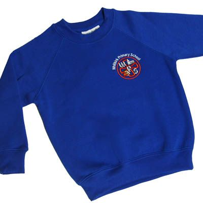 Whitkirk Royal Crew Neck Sweatshirt w/Logo
