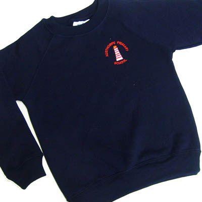 Austhorpe Navy Crew Neck Sweatshirt w/Logo