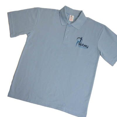 Abbey Grange Sky Blue Polo w/Logo