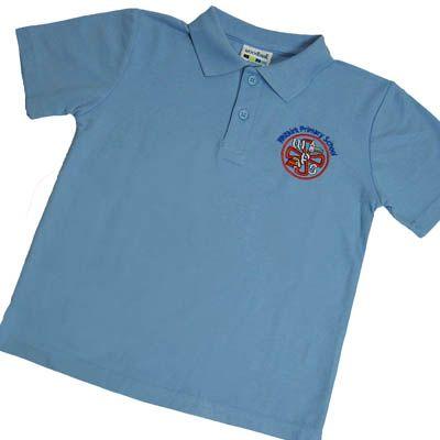 Whitkirk Light Blue Polo Shirt w/Logo