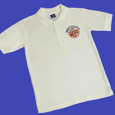 Whitkirk White Polo Shirt w/Logo