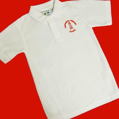 Austhorpe White Polo Shirt w/Logo