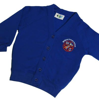 Whitkirk Girls Royal Sweat Cardigan w/Logo