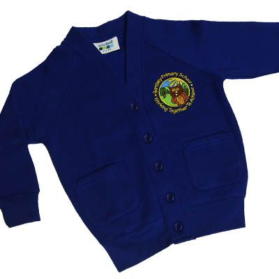 Bardsey Girls Royal Sweat Cardigan w/Logo