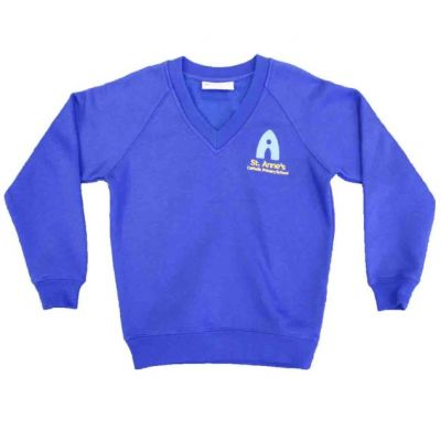 Royal Blue Sweatshirt w/Logo
