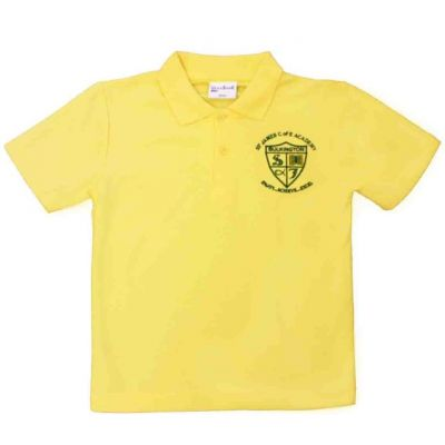 Yellow Polo Shirt w/Logo