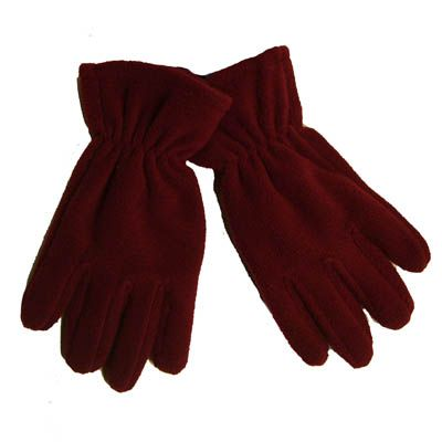 Gateways Girls Maroon Fleece Gloves