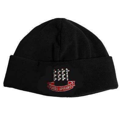 Gateways Boys Black Fleece Hat w/Logo