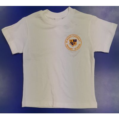St. Paul's White P.E T-Shirt w/Logo