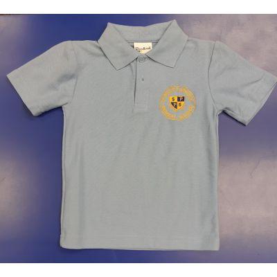 St. Paul's Sky Polo Shirt w/Logo