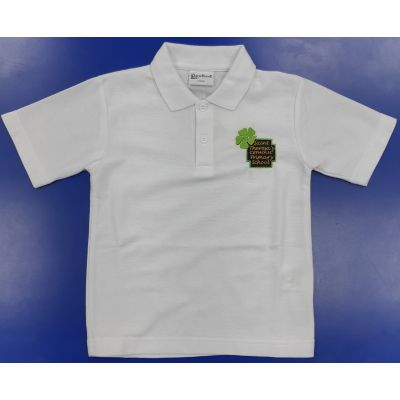 Saint Theresa's White Polo Shirt w/Logo