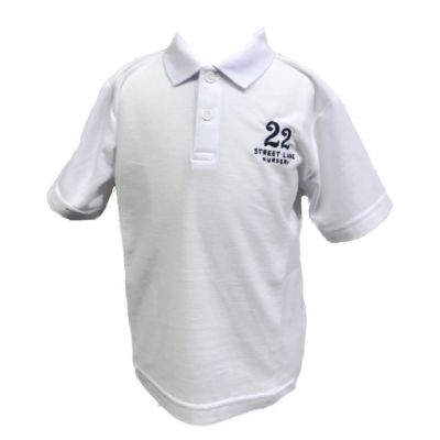 White Polo Shirt w/Logo