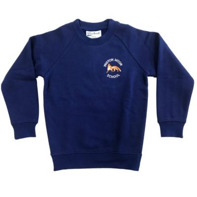 Wigton Moor Royal Blue Crew Neck Sweatshirt w/Logo