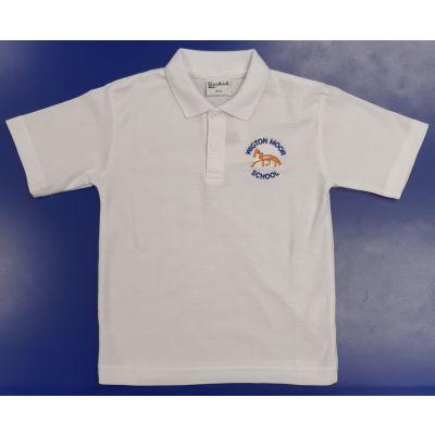 Wigton Moor White Polo Shirt w/Logo